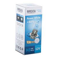 """Лампа 12V H3  55W 4300K + 60% Power White """"Brevia"""" (1шт)   (12030PWC) (10шт/уп)"""