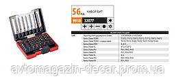 Н-р бит  6гран и звезд 56ед S2 (HEX,PH,PZ,SL,TORX) 32077 мат-л S2под электро инструмнт   (30шт/уп)
