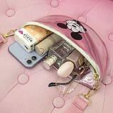 """Детская голографическая блестящая сумочка бананка через плечо """"Микки Маус """" розовая, фото 10"""