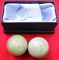 Шары массажные нефрит в футляре (d-4.5 см)(10х4,5х5 см)