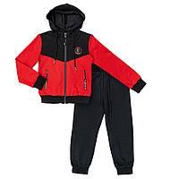 Костюм спортивный для мальчиков Many&Many 134 чёрно-красный 981076