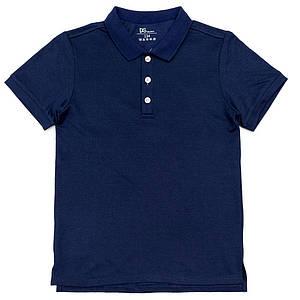 Поло для мальчиков Deloras 140  синее 981101