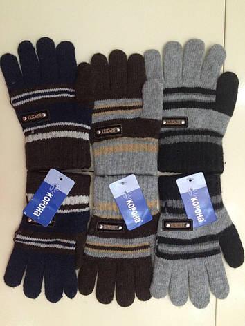 Детские перчатки шерстяные «Корона» одинарные, фото 2