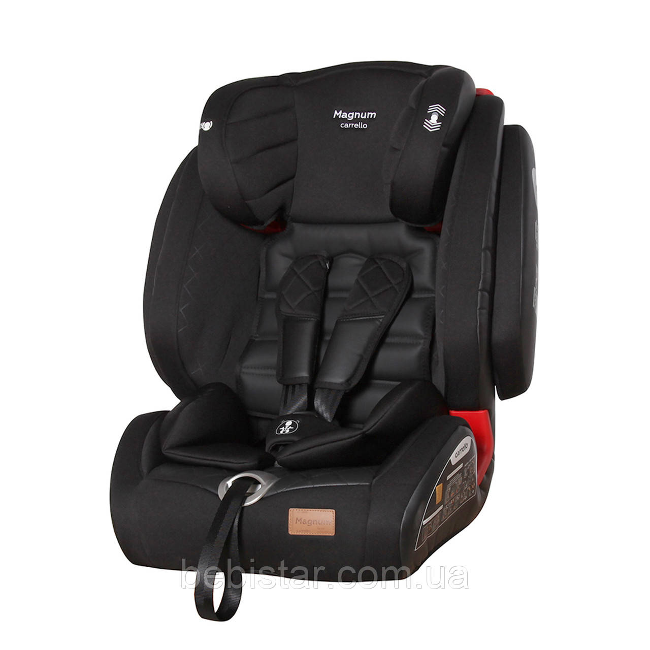 Детское автокресло черное с системой Isofix CARRELLO Magnum CRL-9802 Black Panther детям с рождения до 12 лет