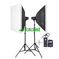 Набор студийного света Godox MiniMaster-150 KIT-50х70-2, 2х150 Дж, радиосинхронизатор Godox RT-16