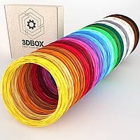 Набор PLA пластика 3D-Box XXL для 3D-ручки: 20 цветов по 5 (10, 20) метров (1,75мм*100м, 200 м, 400м), фото 1
