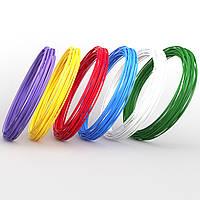 Набор ABS-пластика ЛЮКС для 3d-ручки, 6 цветов, Small