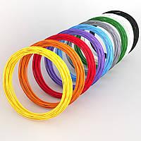 Набір ABS-пластика ЛЮКС для 3d-ручки, 9 кольорів, Medium