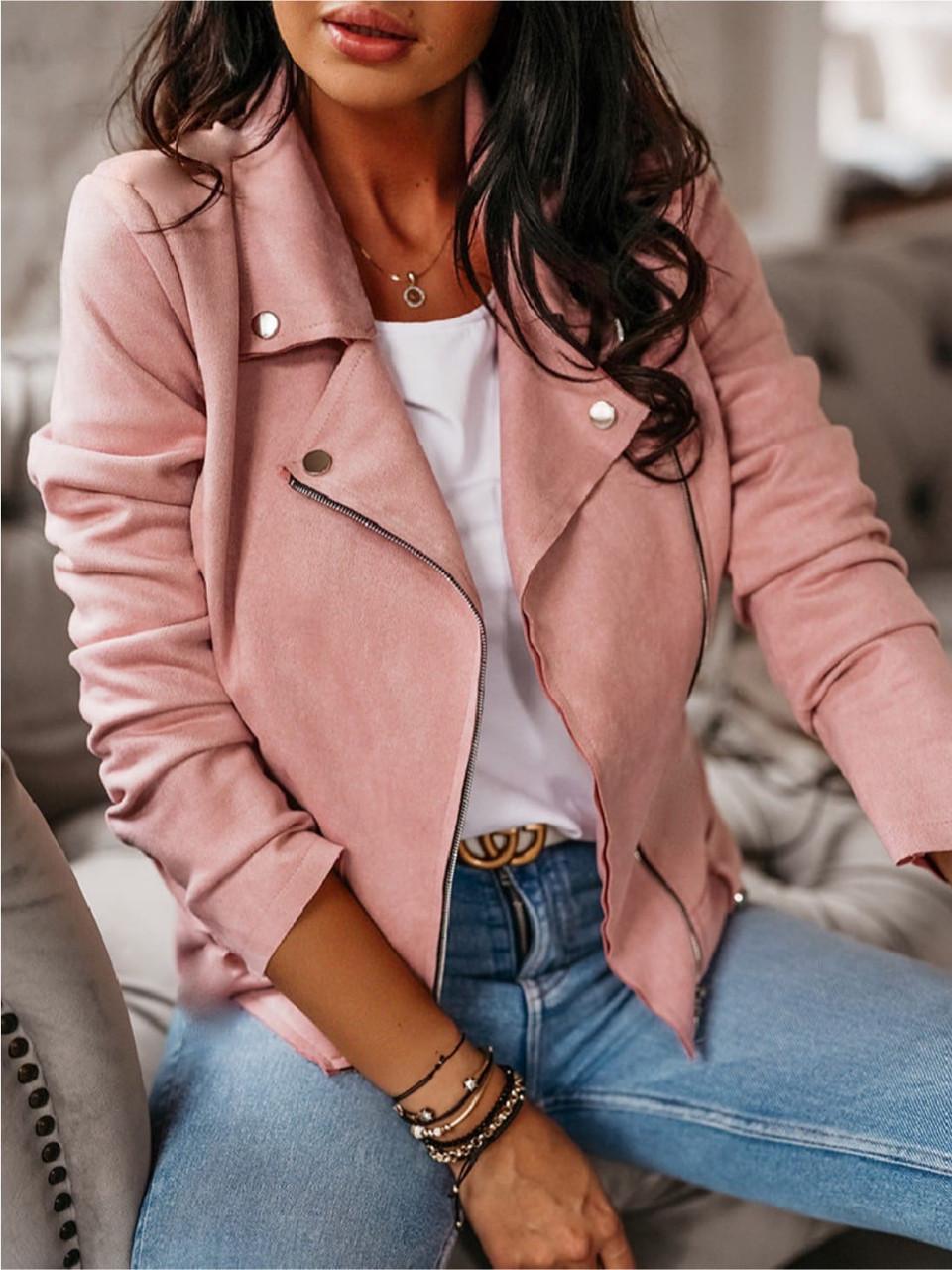 Женская куртка из замша 3 расцветки