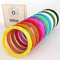 Набор ABS-пластика Люкс для 3d-ручки, 12 цветов, Large