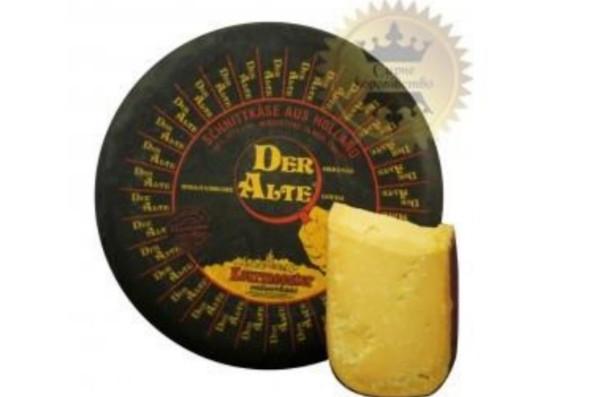 Гауда Дер Альте (1,5 года) - мощный соленый  и островатый с привкусом жареного  грецкого ореха.