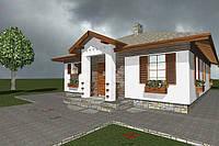 Проект одноповерхового 4-кімнатного індивидуального житлового будинку