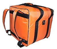Терморюкзак (рюкзак для доставки) оранжевый, фото 1