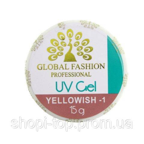 Гель для наращивания ногтей  Global Fashion Professional Uv gel  15 gr