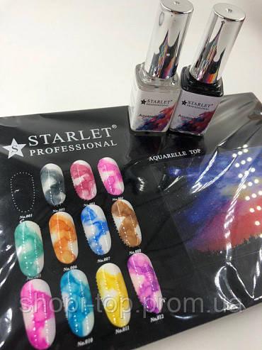 Акварельні фарби з ефектом розтікання 12мл, 12 відтінків,топ для акварельного малюнка на нігтях