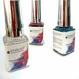 Акварельні фарби з ефектом розтікання 12мл, 12 відтінків,топ для акварельного малюнка на нігтях, фото 2