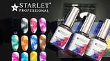 Акварельні фарби з ефектом розтікання 12мл, 12 відтінків,топ для акварельного малюнка на нігтях, фото 3