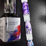 Акварельні фарби з ефектом розтікання 12мл, 12 відтінків,топ для акварельного малюнка на нігтях, фото 6