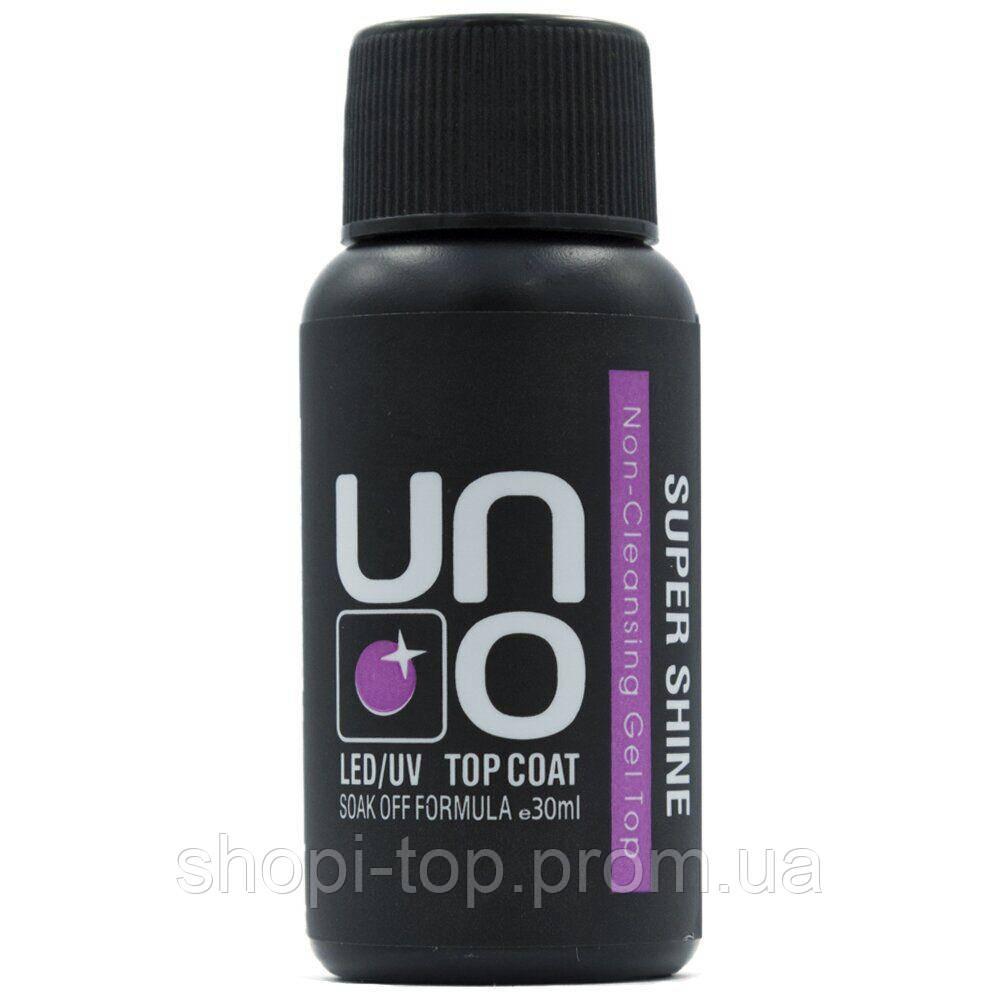 Топ для ногтей UNO 30 мл Super Shine Non-Cleansing Gel Top