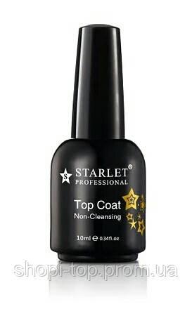 Top Coat Starlet 10 мл / Закріплювач для гель-лаку без липкого шару