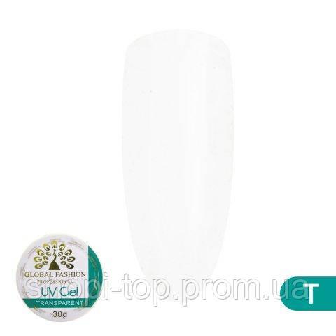 Гель для наращивания ногтей Global Fashion Professional Uv gel  30 мл