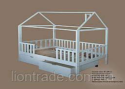 Кроватка домик с ящиками 02