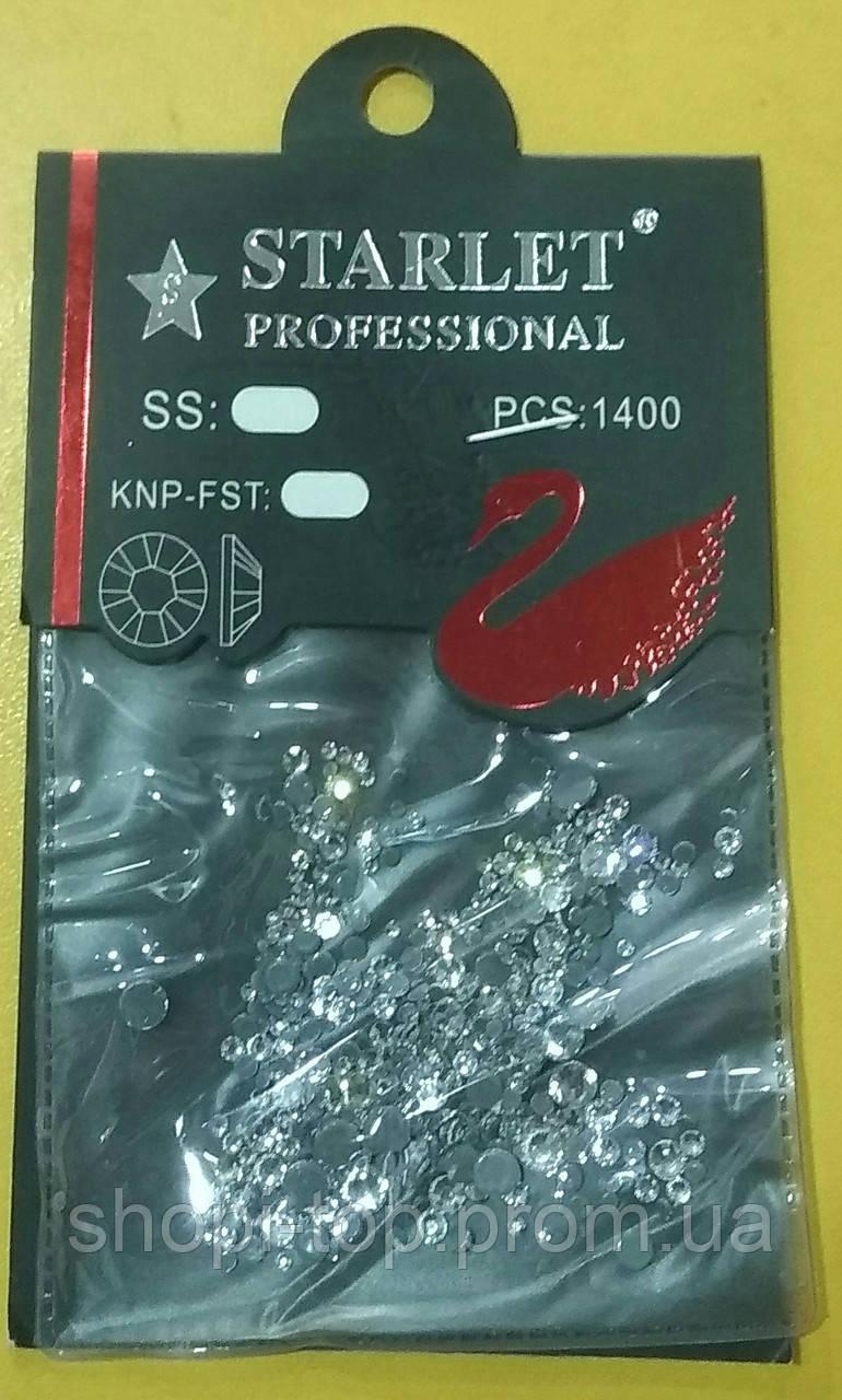 Камни Микс Starlet Professional 1400 штук белые