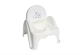 """Детский горшок-стульчик  """"Зайчики"""" Tega Baby (цвет белый)"""