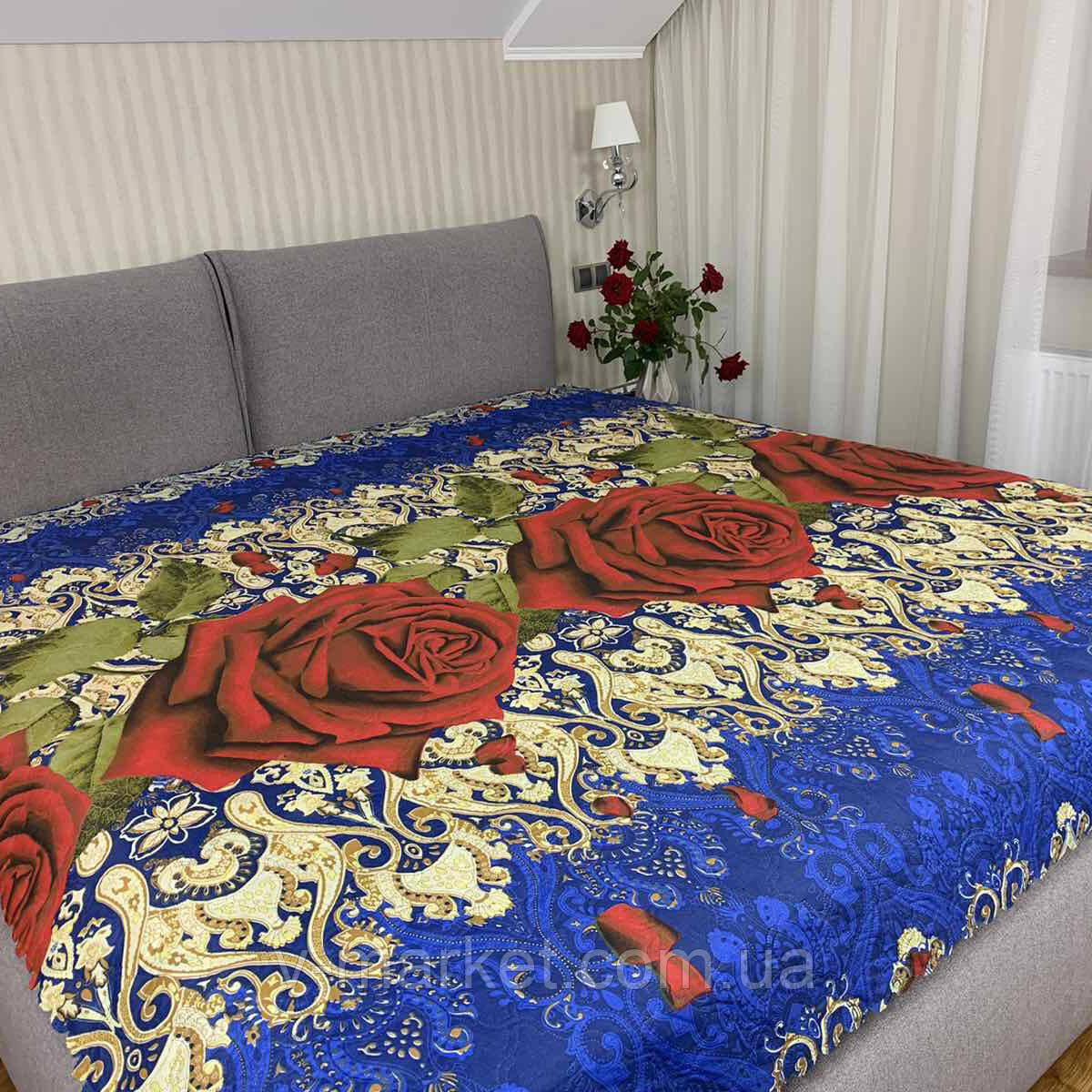 Летнее одеяло покрывало цветы полуторка, 145/205