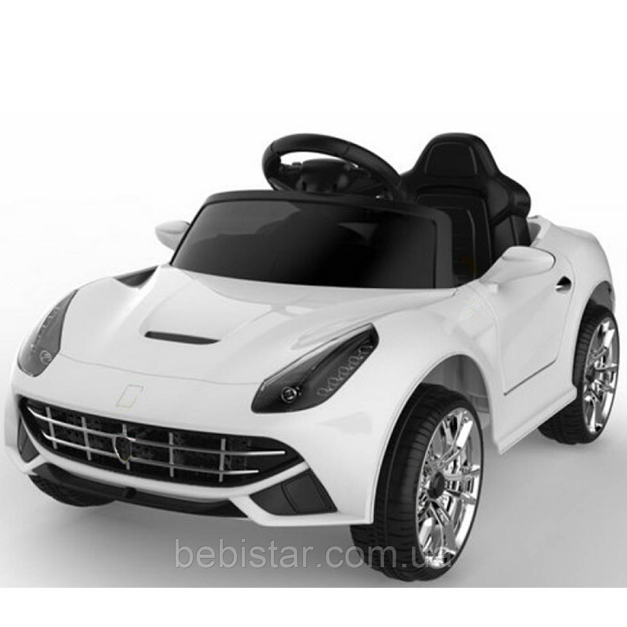 Электромобиль спортивный легковой белый FL1078 на EVA колесах пульт два мотора размер для детей 3-8 лет