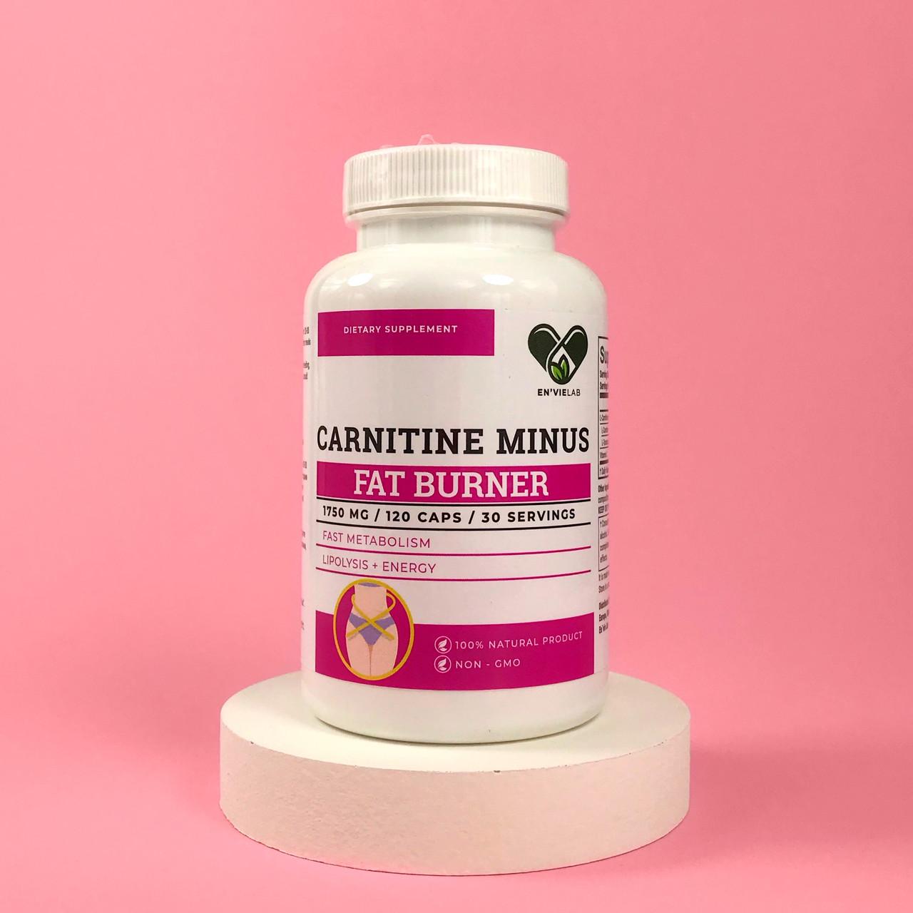 L-Карнітин для схуднення 1500 mg. Carnitine MINUS від ENVIE LAB