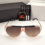 Мужские солнцезащитные очки Carrera овальные Carriere под Брендовые Стильные Карерра копия, фото 6
