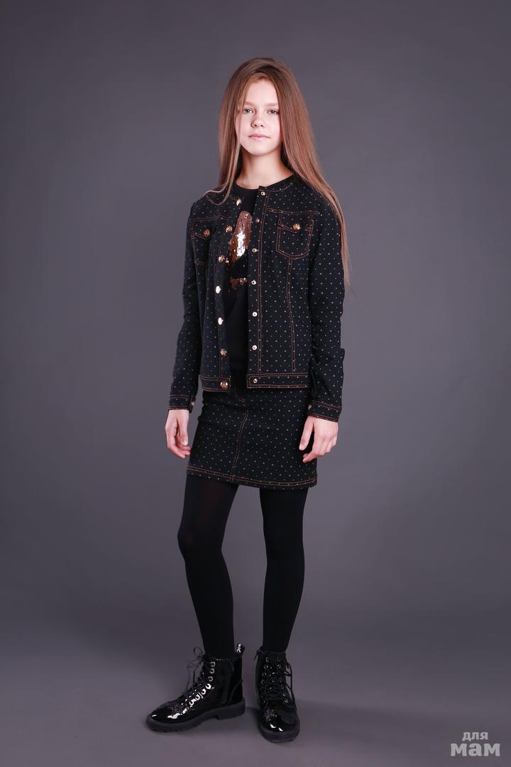 Джинсовая школьная юбка  Моне р-р 146,152,158,164