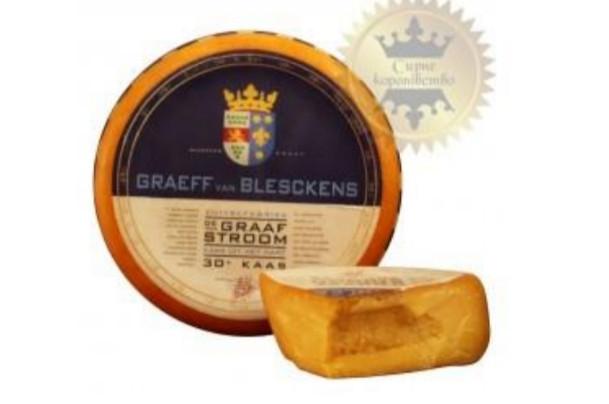 Сыр Граф Ван Блискинс обезжиренный (9 мес)  –  хрустящий с насыщенным сырным  вкусом и легкой нотой ореха.