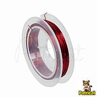 Ювелирная проволока Красная 0.3 мм 10 м