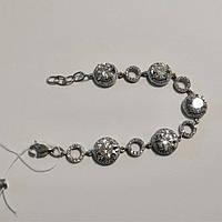 Браслет женский серебряный с камнями циркония Светик, фото 1