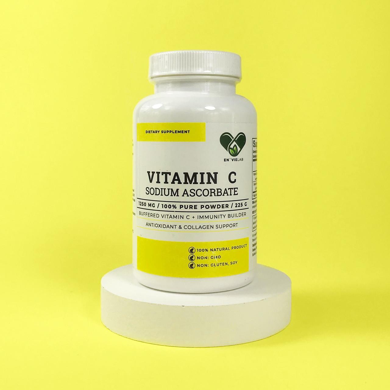 Вітамін С - аскорбат натрію ( Sodium Ascorbate ) порошок 225 р. En'vie Lab