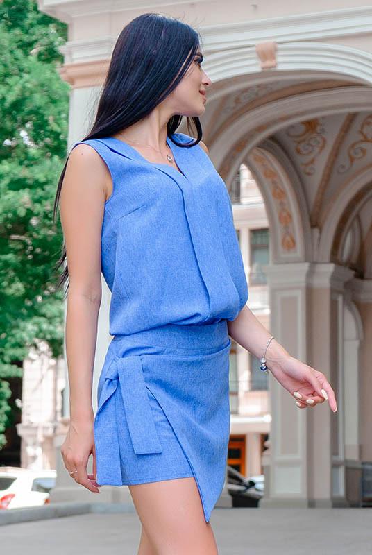 Голубая юбка шорты Дебора 52