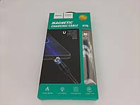 """USB Кабель HOCO U76 """"Fresh magnetic""""Type-C (1.2М) (черный), фото 1"""