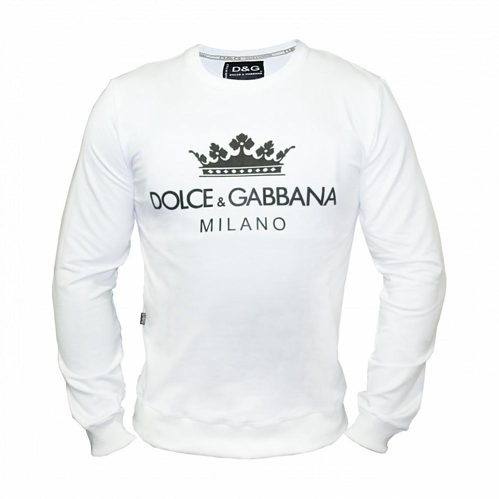 Мужской свитшот Dolce & Gabbana 21552 белый