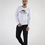 Мужской свитшот Dolce & Gabbana 21552 белый, фото 3