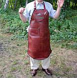 Фартук кожаный стимпанк бармену официанту гриль мастеру флористу кузнецу  подарок., фото 10