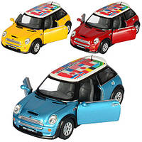 Детская игрушечная машинка Мини Купер КТ5059, инерционная, Кинсмарт, коллекционный автомобиль, металл