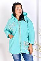 Женская тонкая куртка супер батальных размеров 56-64