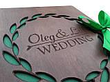 Весільна книга побажань з дерева, фото 5