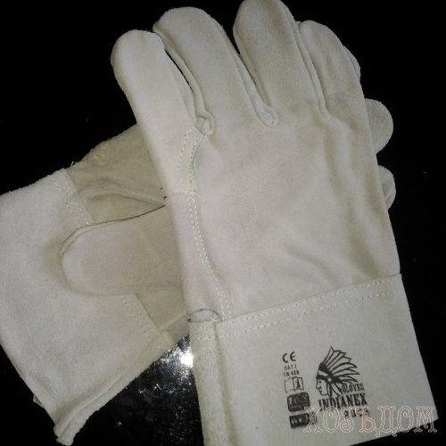Перчатки для сварщика короткие