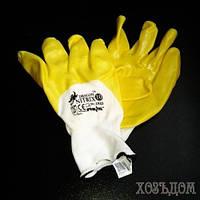 Перчатки из нейлона с нанисением нитрила