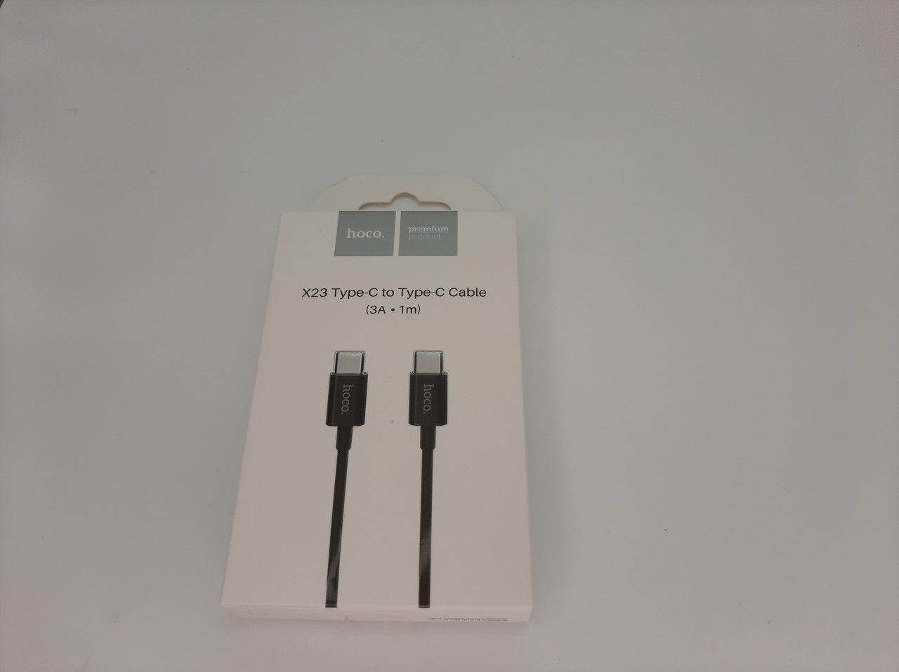 "USB Кабель HOCO X23 ""Skilled"" Type-C to Type-C (3A/1М) (черный)"