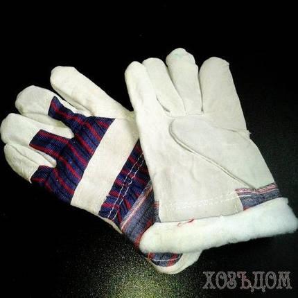 Перчатки утепленные мехом, фото 2