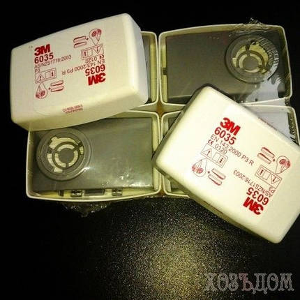 Фильтр 3М газопылезащитный 6035 тип 1 (2 шт), фото 2
